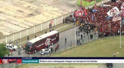 AO VIVO: AeroFla movimenta o Rio de Janeiro. Ônibus segue para o aeroporto do Galeão. Acompanhe