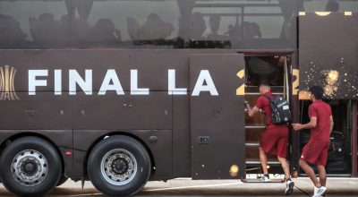 Time do River Plate chega  em hotel de Lima
