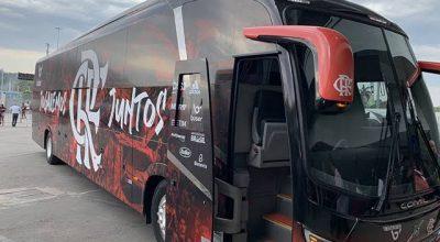 Ônibus com a delegação do Flamengo embarcará pelo terminal de cargas do Galeão